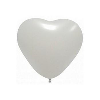 Palloncino in Lattice Cuore 12,5 cm. Bianco