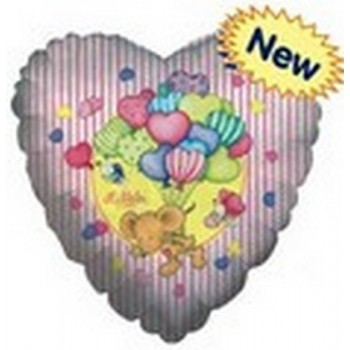 Palloncino Mylar 45 cm. C - Mouse With Hearts