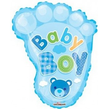 Palloncino Mylar 50 cm. Boy - Baby Boy Foot