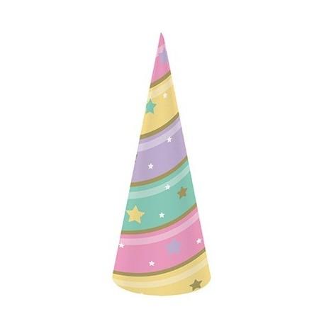Coordinato Unicorno - Cappello a Cono 18 x 6 cm. - 8 pz