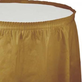 Coordinato Oro - Gonna Plastica 74 x 420 cm.