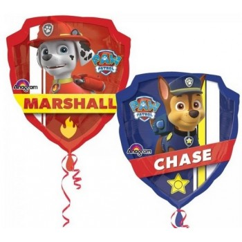 Palloncino Mylar Super Shape 63 cm. Paw Patrol Chase and Marshall
