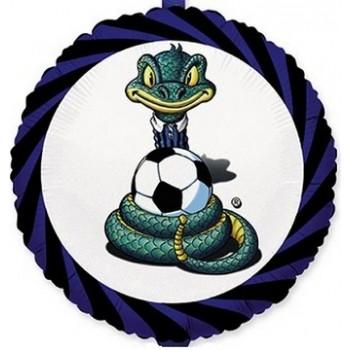 Palloncino Mylar 45 cm. Calcio Sibilo Nerazzurro
