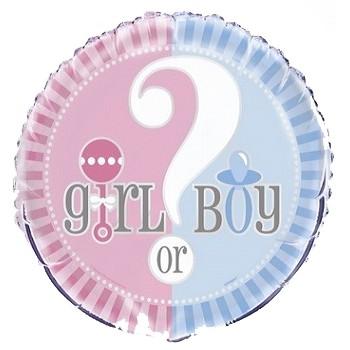 Palloncino Mylar 45 cm. Gender - Reveal Pink & Blue