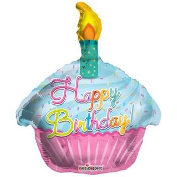 Palloncino Mylar 45 cm. T - Birthday Cupcake