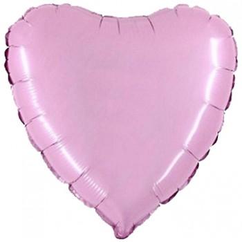 Palloncino Mylar 45 cm. Cuore Rosa