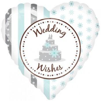 Palloncino Mylar 45 cm. Wedding Wishes