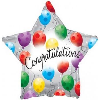 Palloncino Mylar 45 cm. Congratulations Twinkling N