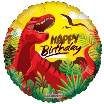Palloncino Mylar 45 cm. Happy Birthday Dinosaur
