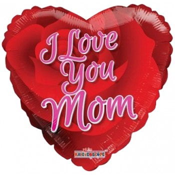 Palloncino Mylar 45 cm. I Love You Mom Rose