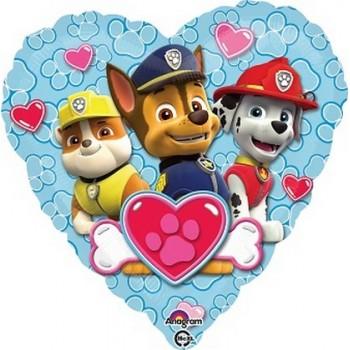 Palloncino Mylar 45 cm. Paw Patrol Love - Boy