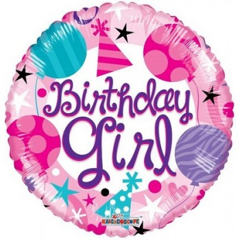 Palloncino Mylar 45 cm. R - Round Birthday Girl