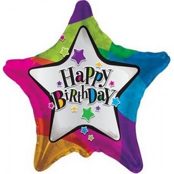 Palloncino Mylar 45 cm. S - Birthday Star