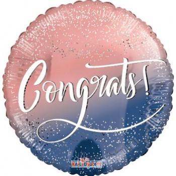Palloncino Mylar 45 cm. Congrats Congrats Confetti