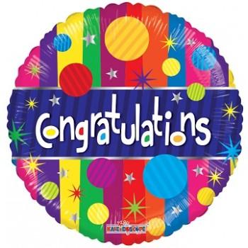Palloncino Mylar 45 cm. Congratulations Dots