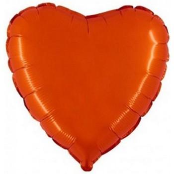 Palloncino Mylar 45 cm. Cuore Arancione