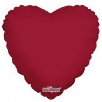 Palloncino Mylar 45 cm. Cuore Bordeaux