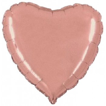 Palloncino Mylar 45 cm. Cuore Rosa Antico