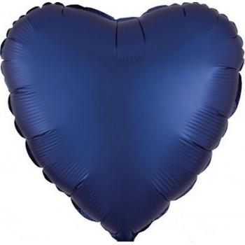 Palloncino Mylar 45 cm. Cuore Satinato Blu Navy
