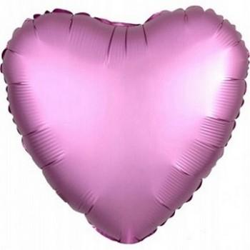 Palloncino Mylar 45 cm. Cuore Satinato Rosa Scuro