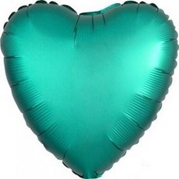 Palloncino Mylar 45 cm. Cuore Satinato Verde Tiffany