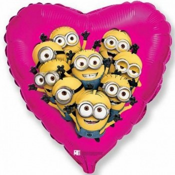 Palloncino Mylar Super Shape 81 cm. Honeydew Open Heart