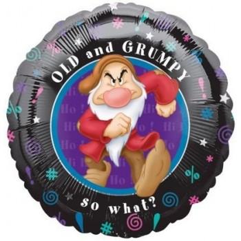 Palloncino Mylar 45 cm. Disney Old and Grumpy Dwarf