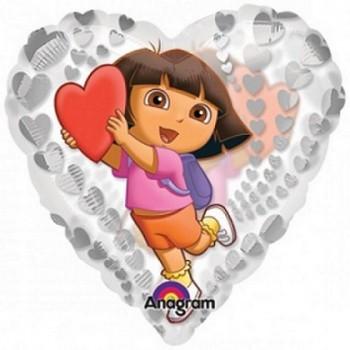 Palloncino Mylar 45 cm. Dora the Explorer Clearly Love