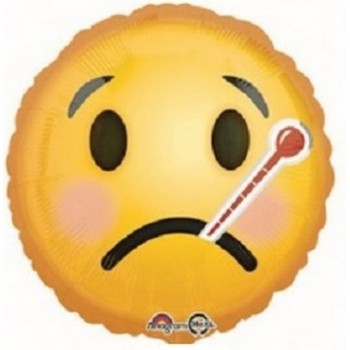 Palloncino Mylar 45 cm. Emoticon Smile Get Well