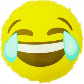 Palloncino Mylar 45 cm. Emoticon Smile Lacrime