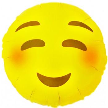 Palloncino Mylar 45 cm. Emoticon Smile Timido