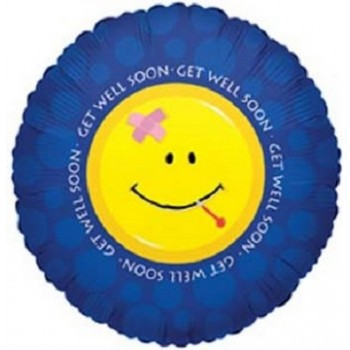 Palloncino Mylar 45 cm. Get Well Smiley