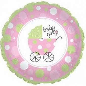 Palloncino Mylar Jumbo 81 cm. Pink Argyle Baby Girl