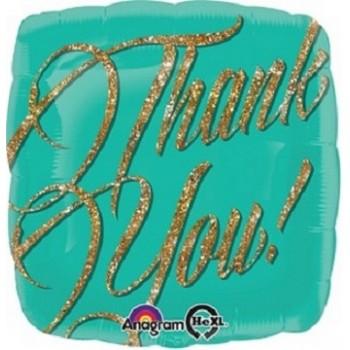 Palloncino Mylar 45 cm. Gold Sparkle Thank You!