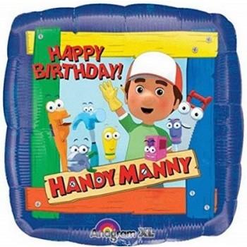 Palloncino Mylar 45 cm. Handy Manny Happy Birthday