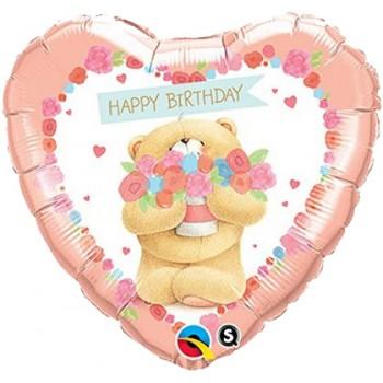 Palloncino Mylar 45 cm. Happy Birthday bear