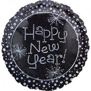 Palloncino Mylar 45 cm. Happy New Year Sparkles