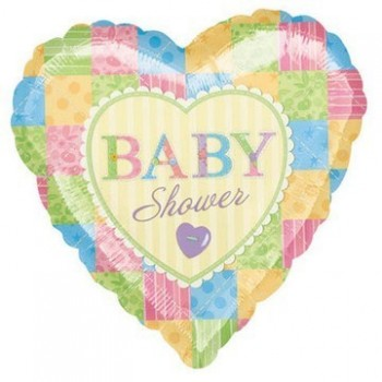 Palloncino Mylar 45 cm. Heart Cute As A Button Baby Shower