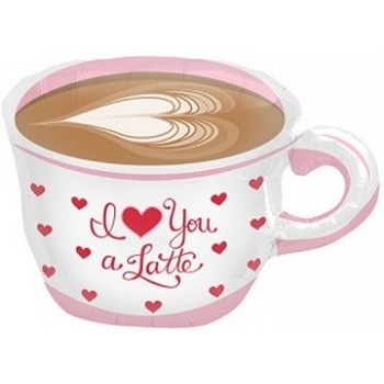 Palloncino Mylar 45 cm. Love You a Latte