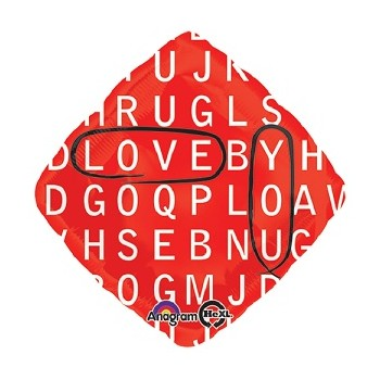 Palloncino Mylar 45 cm. Love You Word Search