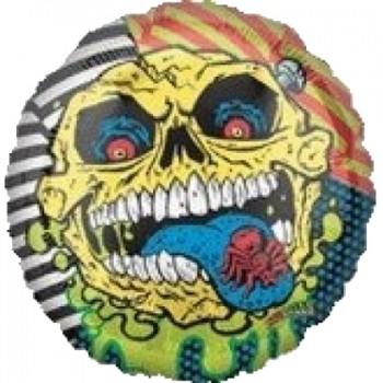 Palloncino Mylar 45 cm. Mad Balls Skull Face