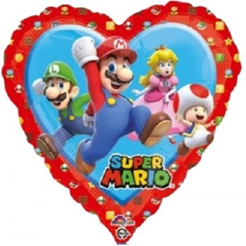 Palloncino Mylar 45 cm. Mario Bros Love