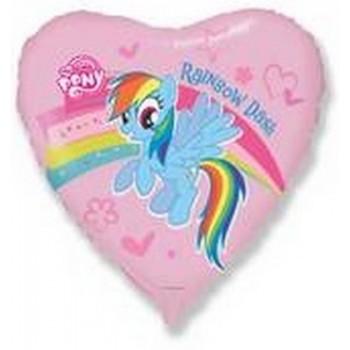 Palloncino Mylar 45 cm. My Little Pony Rainbow