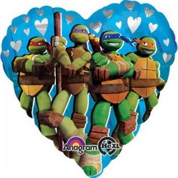 Palloncino Mylar 45 cm. Ninja Turtles Teenage Mutant Love