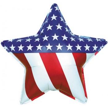 Palloncino Mylar 45 cm. Patriotic Star