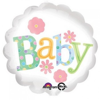 Palloncino Mylar 45 cm. Petite Flower Baby