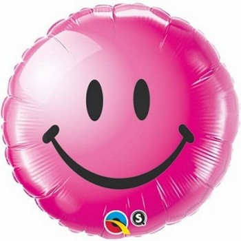 Palloncino Mylar 45 cm. Pink Smiley Face