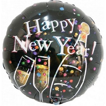 Palloncino Mylar 45 cm. Prism Champagne Bubbles New Year