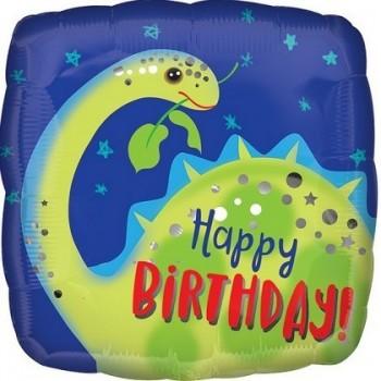 Palloncino Mylar 45 cm. Q - Brontosaurus Happy Birthday