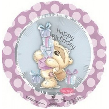 Palloncino Mylar 45 cm. R - Fizzy Moon Happy Birthday Day Gifts